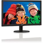 Monitor Philips 223V5LSB2/10, 21.5 inch, 5 ms, Negru