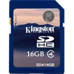 Card de memorie Kingston SDHC 16GB, Class 4