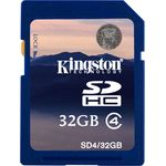 Card de memorie Kingston SDHC 32GB, Class 4