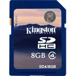 Card de memorie Kingston SDHC 8GB, Class 4