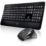 Kit tastatura + mouse Logitech MX800, Wireless, Negru