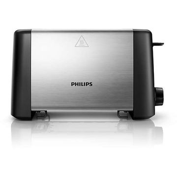 Toaster Philips HD4825/90, 800 W, Negru / Inox