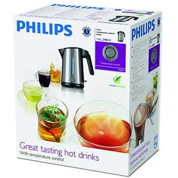 Fierbator Philips HD4631/20, 2400 W, 1.6 l, Inox