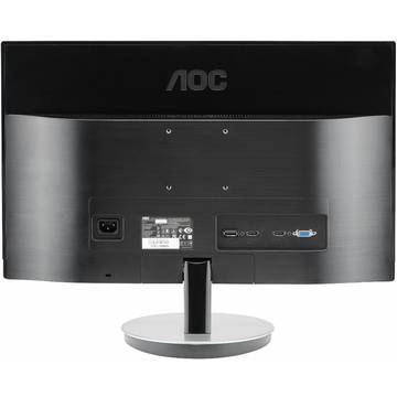Monitor AOC I2369VM, 23 inch, IPS, Wide, Full HD, HDMI, DisplayPort, Argintiu
