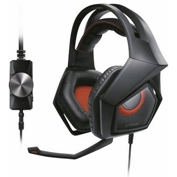 Casti Asus Strix Pro, Gaming, Control volum pe fir, 2 x 3.5 mm, Black