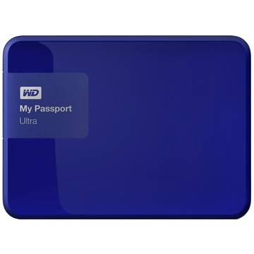 Hard Disk extern Western Digital My Passport Ultra 3 TB, 2.5 inch, USB 3.0, Albastru