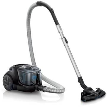 Aspirator Philips Power Pro Compact FC8478/91, 1.5 l, Tub telescopic metalic, 1500 W, EPA 10, Negru