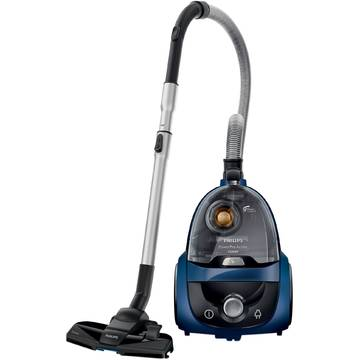 Aspirator Philips Power Pro Active FC8646/91, 1.7 l, Tub telescopic metalic, 1500 W, EPA 10, Albastru