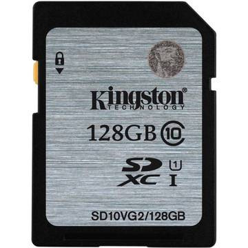 Card de memorie Kingston SDXC 128GB, Class 10, UHS-I