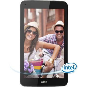 Tableta Wink iX7, Intel Atom Quad-Core Z3735G 1.3 GHZ, 7 inch IPS, 1 GB DDR3, 8 GB, Wi-Fi, Bluetooth 4.0, Android 4.4 KitKat, Negru