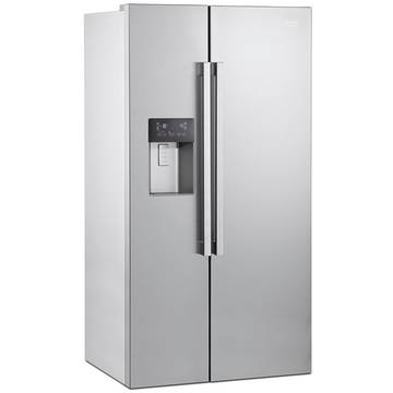 Side by side Beko GN162320X, NeoFrost, A+, 529 l, Inox antiamprenta