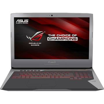 Laptop Asus G752VT-GC078T, Intel Core i7, 16 GB, 1 TB + 128 GB SSD, Microsoft Windows 10, Gri