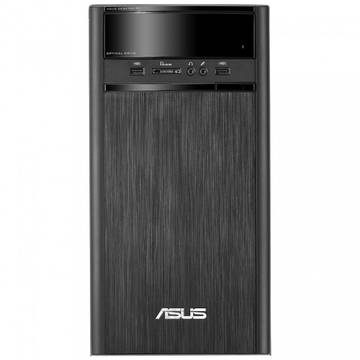 Sistem desktop Asus K31AN Tower, Quad Core Intel® Pentium® J2900 2.41GHz Bay Trail, 4GB, 1TB, GMA HD, FreeDos, Negru, K31AN-RO005D