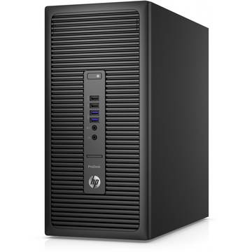 Sistem desktop HP 600 G2 MT, Intel® Core™ i5-6500 3.20Ghz, Skylake™, 4GB, 500GB, DVD-RW, Intel® HD Graphics, Windows 7 Professional 64 + Windows 10 Pro, Negru, P1G51EA