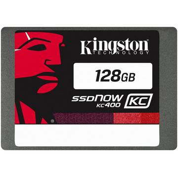 SSD Kingston SSDNow KC400, 2.5 inch, 128 GB, SATA 3