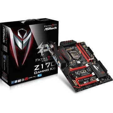 Placa de baza ASRock Z170 GAMING K6, ATX, Socket 1151