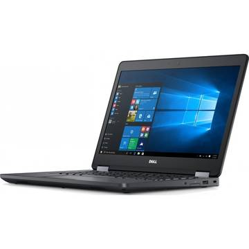 Laptop Dell N041LE5470U14EMEAW, Intel Core i5-6200U, 8 GB, 256 GB SSD, Microsoft Windows 7 Pro + Microsoft Windows 10 Pro, Negru