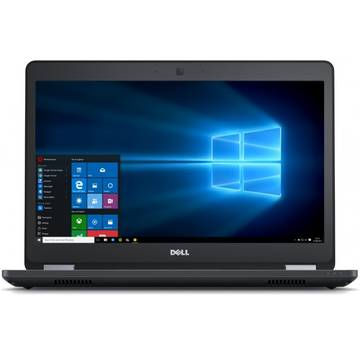 Laptop Dell N007LE5470UEMEA_W, Intel Core i7-6600U, 8 GB, 500 GB, Microsoft Windows 7 Pro + Microsoft Windows 10, Negru