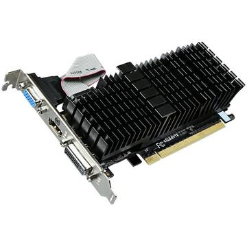 Placa video Gigabyte GeForce GT 710 Silent, 2 GB DDR3, 64 bit Low profile