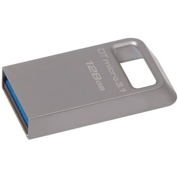 Memory stick Kingston DataTraveler Micro, USB 3.0, 128 GB, Gri