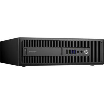 Sistem desktop HP EliteDesk 800 G2 SFF, Intel Core i7-6700, 8 GB, 256 GB SSD, Microsoft Windows 7 Pro + Microsoft Windows 10 Pro, Negru