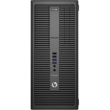 Sistem desktop HP EliteDesk 800 G2 Tower, Intel Core i7-6700, 8 GB, 500 GB, Microsoft Windows 7 Pro, Negru