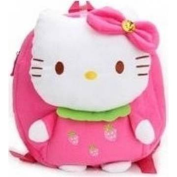 Jucarie textila U-GROW Bow Kitty, 24 cm
