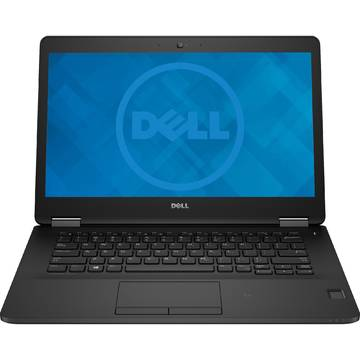 Laptop Dell Latitude E7470, Intel Core i7-6600U, 8 GB, 256 GB SSD, Linux, Negru