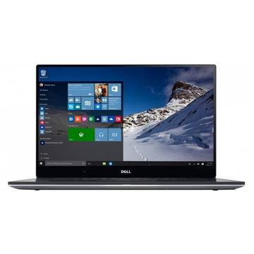 Laptop Dell XPS 15 (9550), Intel Core i7-6700HQ, 32 GB, 1 TB SSD, Microsoft Windows 10 Home, Argintiu