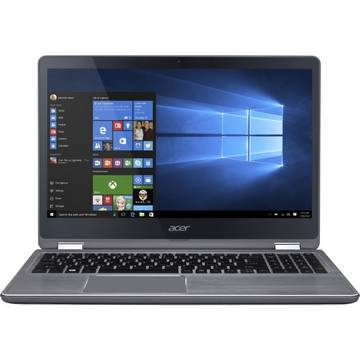 Laptop Acer Aspire R 15 R5-571TG-54MT, Intel Core i5-6200U, 8 GB, 1 TB + 128 GB SSD, Microsoft Windows 10 Home, Argintiu