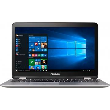 Laptop Asus VivoBook Flip TP501UA, Intel Core i7-6500U, 4 GB, 1 TB, Microsoft Windows 10 Home, Gri / Argintiu