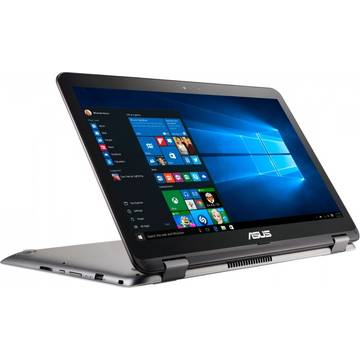 Laptop Asus VivoBook Flip TP501UA, Intel Core i5-6200U, 4 GB, 1 TB, Microsoft Windows 10 Home, Gri / Argintiu