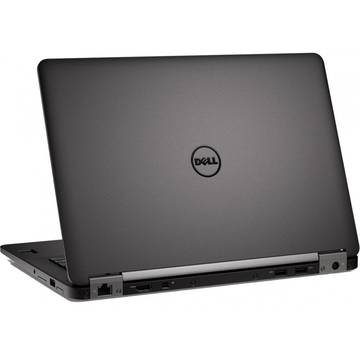 Laptop Dell Latitude E7270 (seria 7000), Intel Core i5-6200U, 4 GB, 128 GB SSD, Linux, Negru