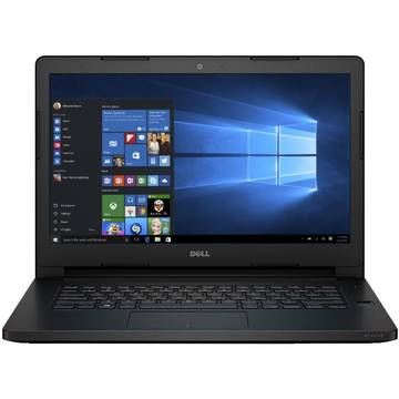 Laptop Dell Latitude 3470 (seria 3000), Intel Core i3-6100U, 4 GB, 500 GB, Microsoft Windows 7 Pro + Microsoft Windows 10 Pro, Negru