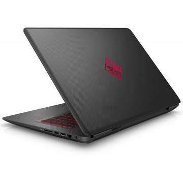 Laptop HP OMEN 17-w000nq, Intel Core i5-6300HQ, 12 GB, 1 TB + 128 GB SSD, Microsoft Windows 10 Home, Negru