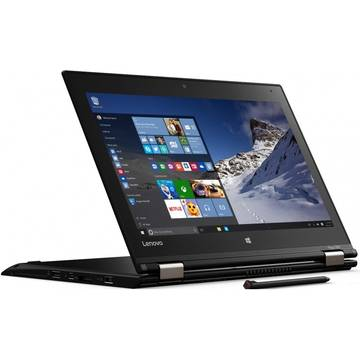 Laptop Lenovo ThinkPad Yoga 460, Intel Core i7-6500U, 16 GB, 240 GB SSD, Microsoft Windows 10 Pro, Negru
