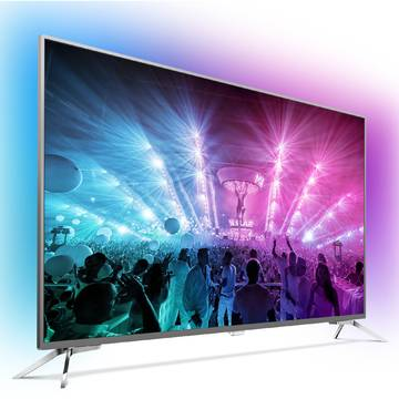 Televizor Philips PUS7101/12, 164 cm, 4K UHD, Smart TV, Gri