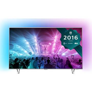 Televizor Philips PUS7601/12, 164 cm, 4K UHD, Smart TV, Gri