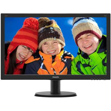 Monitor Philips 240V5QDAB/00, 23.8 inch, Full HD, 5 ms, Negru