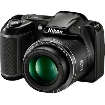 Camera foto Nikon COOLPIX L340, 20.2 MP, Negru