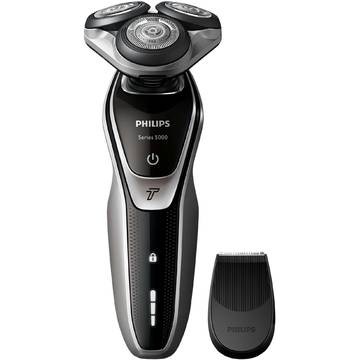 Aparat de ras Philips S5320/06, Lame Multiprecision, Rotire in 5 directii, Mod Turbo, Negru
