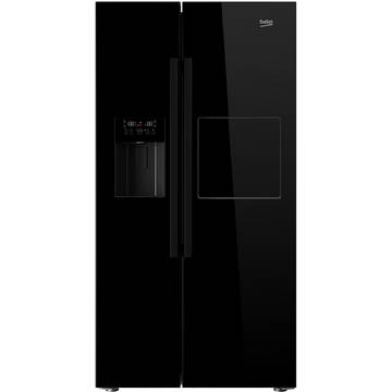 Side by side Beko GN162420P, 544 l, Clasa A+, NeoFrost, H 179 cm, Negru