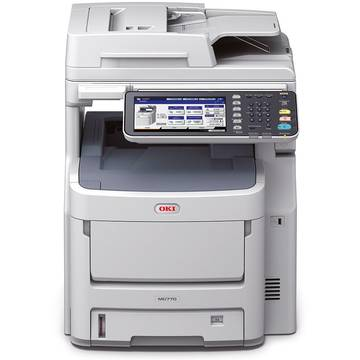Multifunctional OKI MC770dn, Laser, Color, Fax, A4, Alb