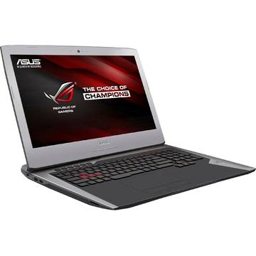 Laptop Asus ROG G752VM-GC005T, Intel Core i7-6700HQ, 17.3 inch, 16GB RAM, 1TB + SSD 128GB, Win 10 Home, Gri