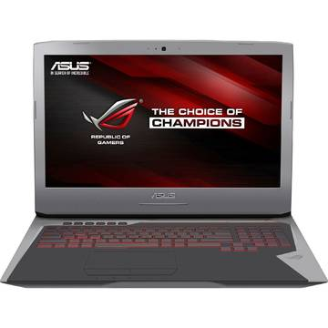 Laptop Asus ROG G752VM-GC001T, Intel Core i7-6700HQ, 17.3 inch, 16GB RAM, 1TB, Win 10 Home, Gri