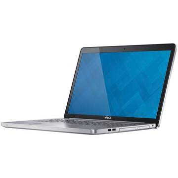 Laptop Dell Inspiron 7000, Intel Core i5-7200U, 17.3 inch, 12GB RAM, 1TB, Win 10 Home, Argintiu