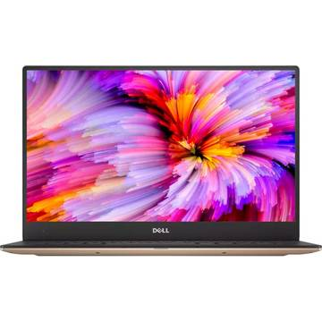 Laptop Dell XPS 9360, Intel Core i7-7500U, 13.3 inch, 8GB RAM, SSD 258GB, Win 10 Home, Auriu