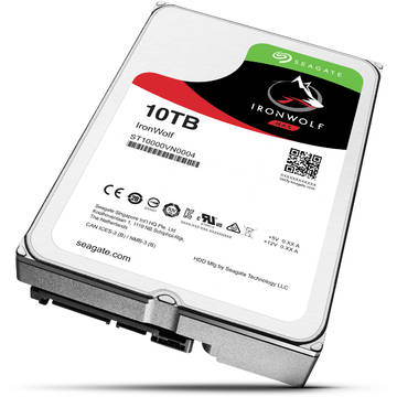 Hard Disk Seagate ST10000VN0004, 3.5 inch, 10 TB, SATA 3, 7200 RPM, 256 MB, IronWolf