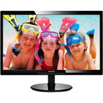Monitor Philips 246V5LHAB LED, 24 inch, Wide, HDMI, Negru, Boxe
