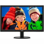 Monitor Philips 243V5LHAB, 23.6, Wide, Full HD, HDMI, DVI, Boxe, Negru